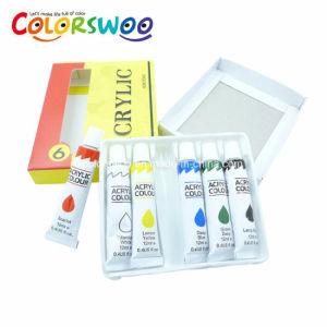 Oferta de arte 6ml*12PCS no tóxico de Acrílico Color de pintura en tubo de aluminio para los estudiantes el dibujo