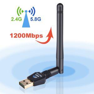 [Ninewifi]Factory Direct de haute qualité 1200Mbits/s 802.11AC adaptateur USB WiFi 2.4G&5g d'antenne externe