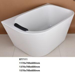 Bañera de esquina de acrílico independiente