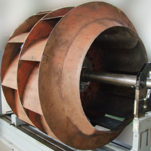 Горизонтальный тип конечного привода балансировка вентилятора машины Phw-1000h