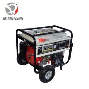 5kw 13HP elektrischer Anfang mit Griff-und Rad-Energien-Benzin-Generator-Set