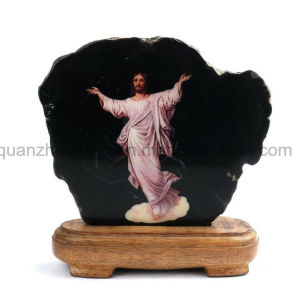 Venda a quente OEM Cristo Pedra Natural decorativas de recreio