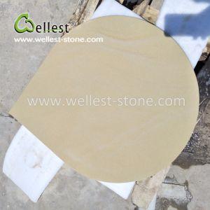 カスタム水低下の形の黄色の砂岩床タイル