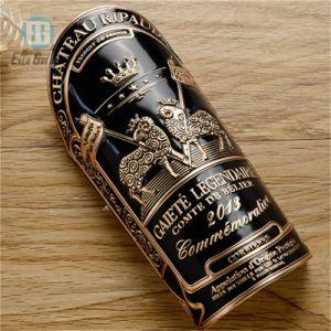 ワイン・ボトルのためのカスタムPetwerによって浮彫りにされる金属のラベル