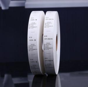 (JR-1221) 판매에 기계 가격을 인쇄하는 의복 Flexo 직물 레이블