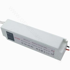 25W 12V AC salida única fuente de alimentación DC exterior IP67 para Tira de luz LED con carcasa de plástico resistente al agua Modo de conmutación, Transformador de alimentación del controlador de LED