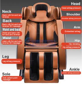 Sillas de masaje de lujo en 4D PIE BRAZO Masajeador de airbags de cabeza hacia atrás