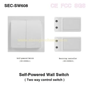 Wireless Autoalimentado electrodomésticos Wall-Switch Control (S-SW608)