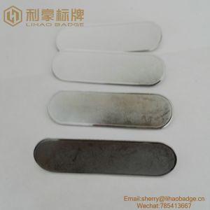 f3d74480c99 Cor prateada Monograma Pin de lapela de metal em branco com o pino de  segurança