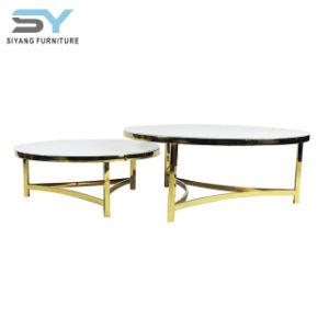 Sala de estar definido Childern antigo Quadro Superior em mármore mesa de café