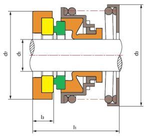 Ts 70 de Mechanische Verbinding van de enig-Lente (vervang MTU fp/s-TYPE a)
