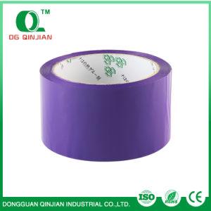 Band van de Verpakking van de Doos BOPP van de vervaardiging de Zelfklevende Purpere