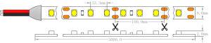 Ce 1210 dell'UL 3528 indicatore luminoso di striscia flessibile di 2.4W 12V 30 LEDs/M CRI90 IP20 LED