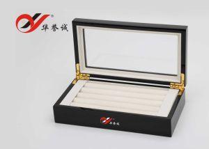 鋼鉄ペンキのブラウンの木の宝石類のパッケージのストレージリングのギフト用の箱か陳列ケース