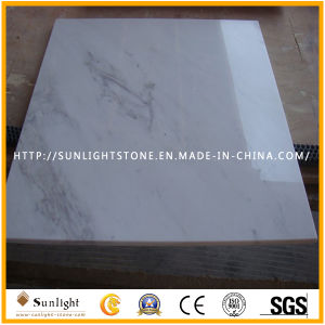 床、フロアーリング、壁のためのVolakasの普及した磨かれた白い大理石のタイル