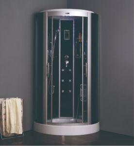 Gran enmarcadas de satén de lujo de alta calidad de vidrio redonda Receptáculo de ducha de vapor