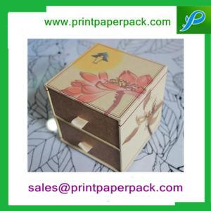 Saque personalizado Papel cartón Two-Story Cajón caja, caja de almacenamiento de envases de joyería