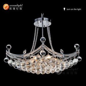 Lustres de cristal LED moderna iluminação pendente do Teto (OM715)