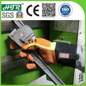 Resistente a chamas Anti-Impact Mecânica Industrial Segurança luvas de trabalho de couro com TPR