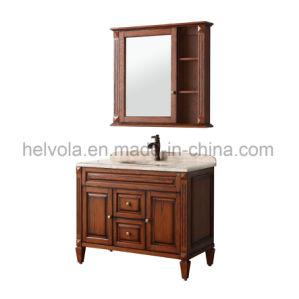 Gesundheitlicher Ware-Badezimmer-Bassin-Zubehör-Schrank-festes Holz Kurbelgehäuse-BelüftungMDF mit Spiegel-Edelstahl-Badezimmer-Möbel-Badezimmer-Eitelkeit 6