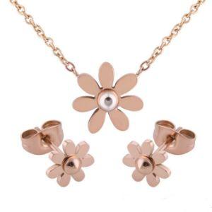 La mode de bijoux de fantaisie charmante Flower Earrings Ensemble de collier