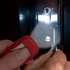 Mini Lampe torche à LED dynamo solaire anneau trousseau