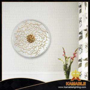 Classic forma redonda com luz de parede floral de latão (KAW18-096)