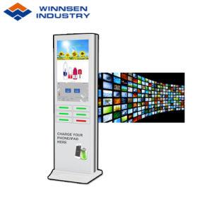 Einkaufszentrum-schnelles Ladung-Telefon-aufladenkiosk-Station mit 43 Zoll Bildschirm bekanntmachend