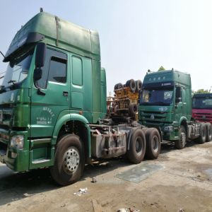 Usado Trator Pesado Verde 2015 Cabeça caminhão marca HOWO Chinês