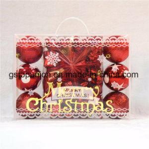 Sfere di plastica G75 della decorazione Mixed di natale del contenitore di regalo