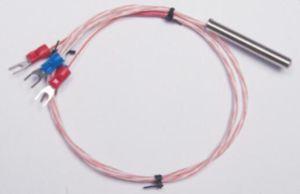 Sensor de temperatura PT100 de 2m de cable de la IDT Sonda de acero inoxidable 100mm 3 cables para Thermostate