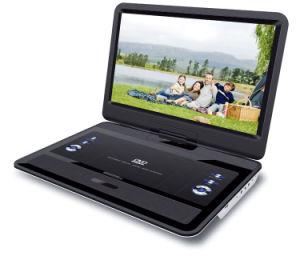 텔레비젼 조율사, 게임, USB, 카드 판독기, MP4와 VGA 기능 (PD-1700)를 가진 17.5inch 휴대용 DVD 플레이어
