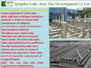 De hitte-Isolatie van het LNG Hoge VacuümPijpleiding/Buis