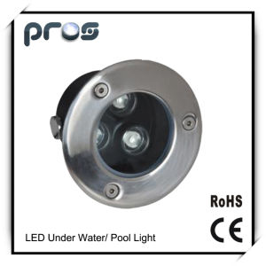 2years Warranty 3W LED Underground Light mit Full Colors