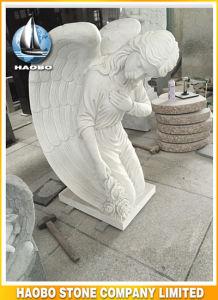 Het hand Gesneden het Knielen Mable Standbeeld van de Engel