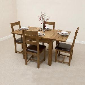 Muebles de comedor de madera juego de mesa y silla de roble macizo Muebles de Comedor (HSRU0021L)