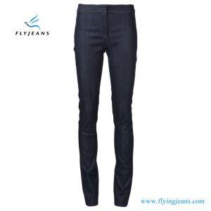 Denim scarno delle ragazze/signore dei jeans del cotone del fornitore di miscela di lunghezza blu della caviglia (P.E. 425 dei pantaloni)