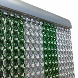 Belas decorações coloridas de elos de alumínio cortina de porta lateral de metal da cadeia do divisor de sala de voar a cortina de Link
