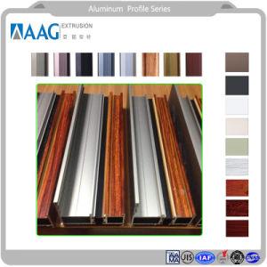 Perfil de aluminio de alta calidad para la ventana, persianas, muebles