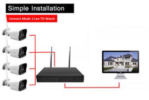 4CH NVR sistema CCTV Kits inalámbricos infrarrojos Cámara IP WiFi impermeable