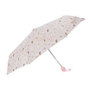 アルミ合金日曜日または雨傘が付いている繭紬の固体3フォールドの傘