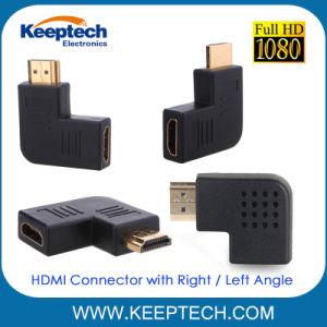 HDMI Connecteur femelle à mâle avec angle de braquage à gauche de l'angle de braquage à droite pour la TVHD 1080p