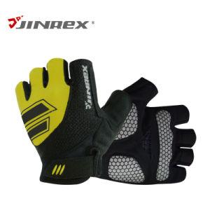 体操の自転車の半分指の循環のゲルのパッディングのバイクのシリコーンのスリップ防止スポーツの手袋