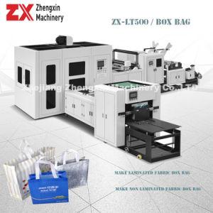 Completamente automática de laminado polipropileno tejido sin tejer Bolsa de Caja, Bolsa de compras, manejar la bolsa, bolsa de transporte, Plaza de la maquina para fabricar Bolsa de precio (ZX-LT500).