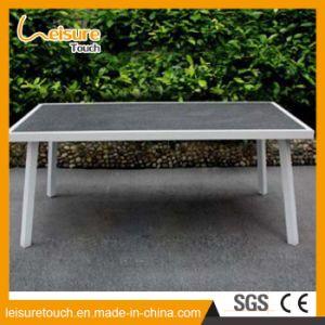 Jardín de ocio moderno mesas y sillas de comedor Muebles de exterior de aluminio