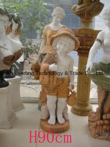 Het aangepaste Beeldhouwwerk van het Kind van het Standbeeld van de Steen Handcarved voor de Decoratie van de Tuin en van het Landschap