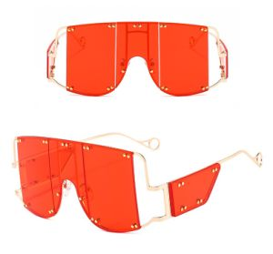 2020 A Estrutura grande venda quente óculos de Metal Punk Onepiece dividir os óculos de sol