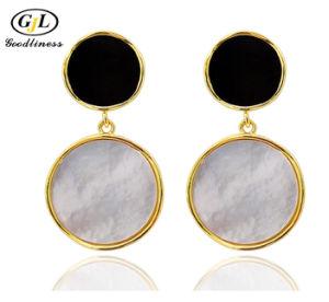Перламутр Earring Shell природных Pearl центре Фэшн Ювелирные изделия