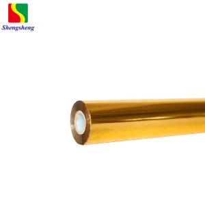 El color de oro de la lámina de estampado en caliente para el envasado de tinta UV de la etiqueta