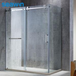 Banho quente sem caixilho deslizante único retangular de chuveiro em vidro aberto sala de gabinetes
